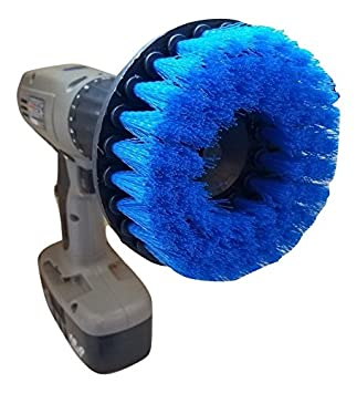 The Beast Brush (Medium Blue)   Power Scrubbing Brush Drill Attachment For  Cleaning Showers
