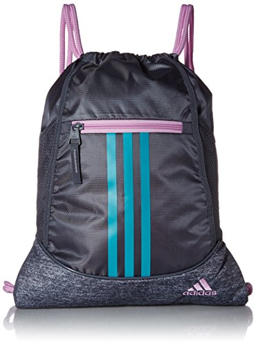 adidas Alliance II Sackpack, Onix/Onix Jersey/Clear Lilac Purple/Hi - Res Aqua Gr, One Size