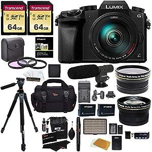 Panasonic DMC-G7HK Digital Single Lens Mirrorless Camera 14-140 mm Lens Kit, 4K + 2 Transcend 64 GB + LED Kit + Ritz…