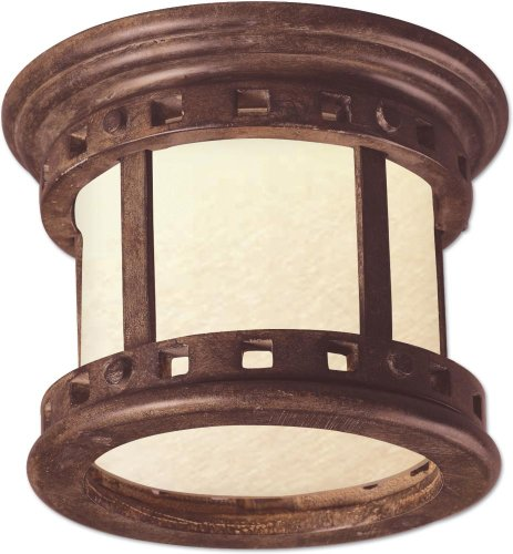 UPC 783209029491, Maxim Lighting 85030MOSE One Light Sienna Mocha Glass Outdoor Flush Mount, Copper