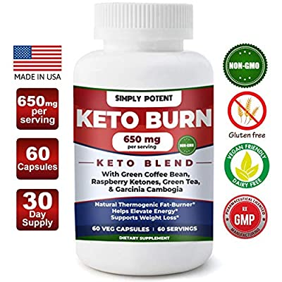 Unique Weight Loss & Keto Diet Pills Best Thermogenic Fat Burner Lose Weight Fast Appetite Suppressant Boost Energy & Focus Lose Stubborn Belly Fat w/Raspberry Ketones, Green Tea, Garcinia Combogia.