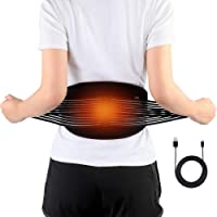 DOACT Waist Heat Belt, Electric Heating Pad for Lower Back Arthritis, Strains, Stiffness, Lumbar Spine Pain Relief, Heat Therapy Wrap Belly Warmer Band for Abdominal Menstrual Cramps, Fits Men and Women