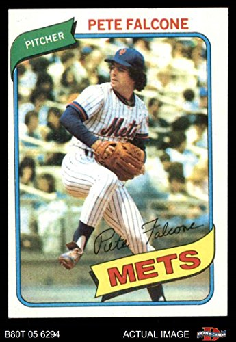(1980 Topps # 401 Pete Falcone New York Mets (Baseball Card) Dean's Cards 5 - EX Mets )