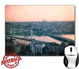 Manufacture:               MADE IN USA. Designed, Printed and Shipped out of our California Facility.        Features:        Our mousepad is made of natural rubber with Fabric. High quality cloth weave surface bonded t...