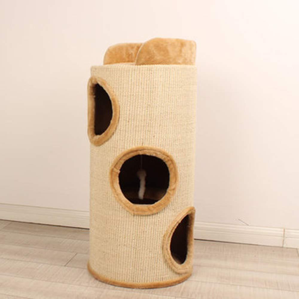 Cat Furniture,Cat Climbing Frame, Sisal Tube,Cat Tree, Cat Nest,Cat Toy,Cat Scratch Column, 30X30X80cm