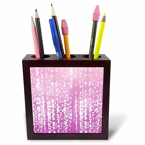 Dreamy Dots (3dRose PS Chic - Picturing Purple White Dreamy Confetti Dots - 5 inch tile pen holder (ph_270964_1))