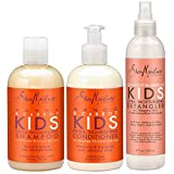 Shea Moisture Kids Hair Care Combination Pack - Includes Mango & Carrot 8oz KIDS Extra-Nourishing Shampoo, 8oz KIDS Extra-Nourishing Conditioner, and 8oz Coconut & Hibiscus KIDS Detangler