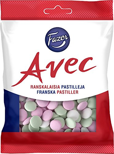 Fazer Avec Ranskalaisia Pastilleja (French Pastilles) Mint Chocolates Dragee Drops Candies Bag