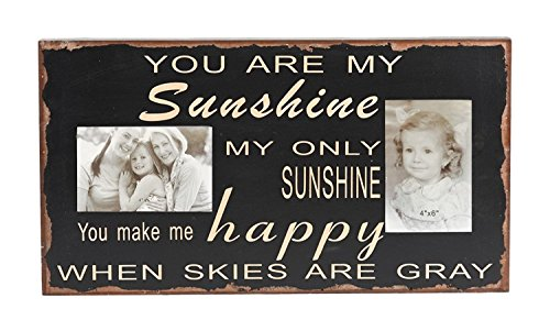 Rustic You are my sunshine My only sunshine Sentiment Collage Wood Chunky Photo Frame 10.25