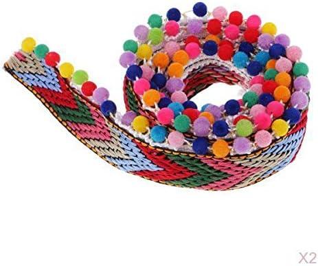 ポンポンボール リボン 装飾ビーズ フリンジ 縫い付け タッセル編み 服装飾り 2サイズ選べ - 28mm