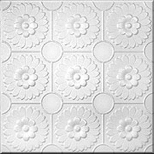 R36 White Tin Looking Ceiling Tile