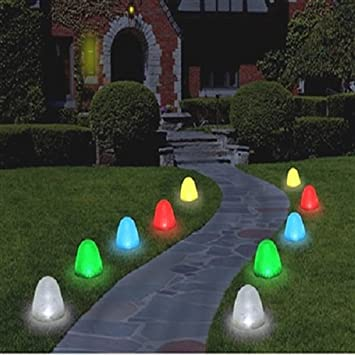 "Set of 10 - 8"" Tall Sugar Coated LED Gumdrop Christmas Pathway Lights - Amazon.com: Set Of 10 - 8"