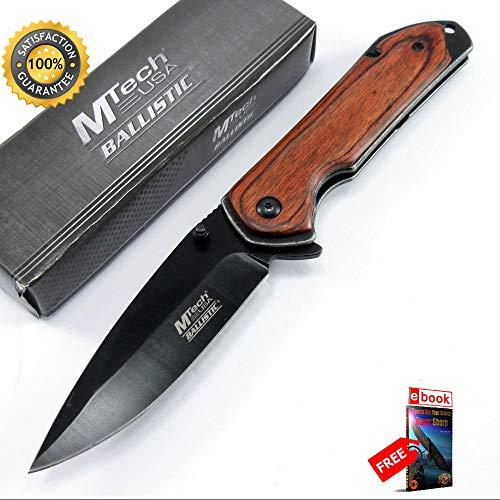 SPRING ASSISTED FOLDING POCKET Sharp KNIFE Mtech Brown