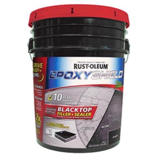 Rust-oleum Epoxyshield Blacktop Filler & Sealer, 3.5 Gal, Jet (Asphalt Driveway Coating)