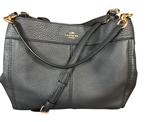 Coach Pebbled Leather Small Lexy Shoulder Bag, Midnight