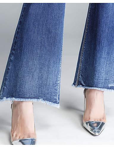 YFLTZ Pantalones Vaqueros de algodón con Botines de Mujer - Basic de Color sólido: Amazon.es: Deportes y aire libre