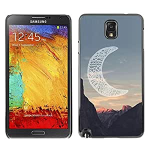 Design for Girls Plastic Cover Case FOR Samsung Note 3 N9000 Moon Native American Indian Canyon OBBA