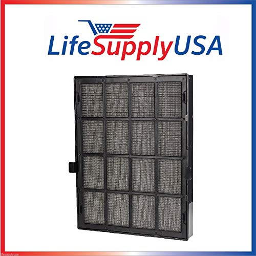 LifeSupplyUSA Replacement All-in-One Washable Cassette Cartridge Filter Set Fits Winix 114190 Ultimate Size 21, Filter B