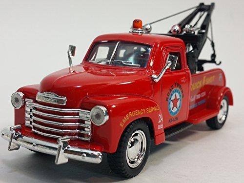 Kinsmart Red 1953 Chevy Wrecker 1/38 O Scale Diecast Commercial Tow Truck (Diecast Wrecker Truck)