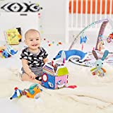 Skip Hop Vibrant Village Smart Lights Baby Play Gym with Music, Light Show, & Hanging Activity Toys