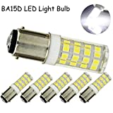 Ba15d Double Contact Bayonet Base LED Light Bulbs 120 Volts 4 Watts 350lm Daylight 6000k T3/T4/C7/S6 LED Halogen Replacement Bulb(4 Watts Pack of 5)