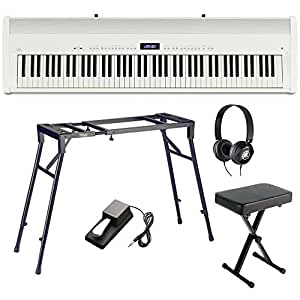 kawai es8 white compact portable digital piano 88 key weighted bundle musical. Black Bedroom Furniture Sets. Home Design Ideas