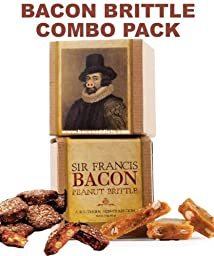 Sir Francis Bacon Brittle Combo Pack (2pc Set) - Bacon Peanut Brittle & Milk Chocolate Bacon Brittle