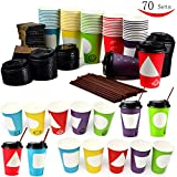 Best Cup Of Coffees - 70 Coffee Cups with Lids - 12 oz Review