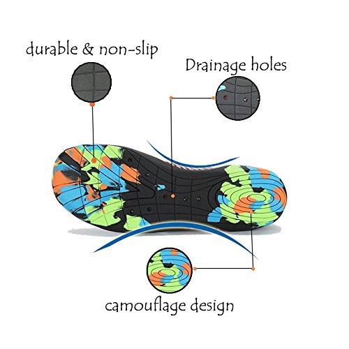 Lxso Männer Frauen Wasser Schuhe Multifunktionale Quick-Dry Aqua Schuhe Leichte Schwimmschuhe Mit Entwässerung Löcher 3-grün