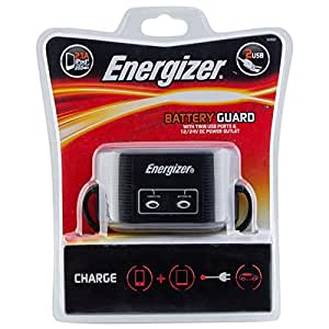 Energizer 12 V Battery Guard with Twin USB Charger