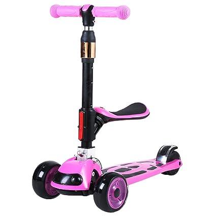 HYE-Patinete 3-en-1 Kick Scooter para los niños del niño de ...