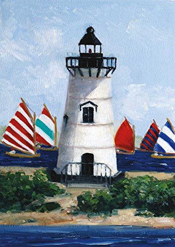 Feeling at home ROLLED-CANVAS-fine-art-print-Brandt-Point-Lighthouse-Coastal-34x24_in