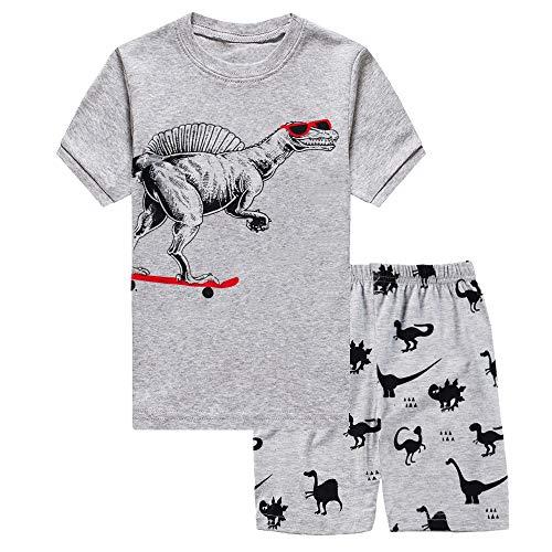 Little Boys Cool Dinosaur 2 Piece Pajamas Shorts 100% Cotton Sleepwear for Kids 2 3 T ()