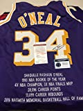 Shaquille O'neal Autographed Signed Los Angeles Lakers Custom Rare Stat Jersey JSA Sig Dog COA & Hologram