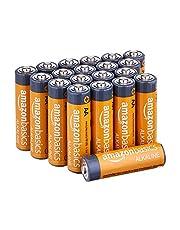 Amazon Basics AA 1.5 Volt Performance Alkaline Batteries - Pack of 20