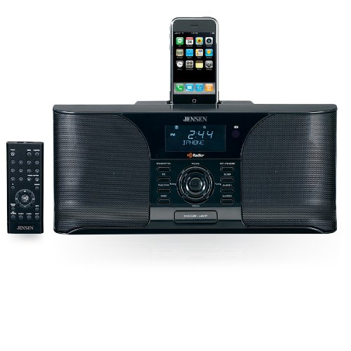 Jensen JIMS-525i Docking Digital HD Radio System/Alarm Clock for iPod (Black)