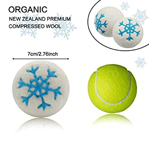 Wool Dryer Balls 6 Pack Organic Eco Superior Quality Reusable Tumble Laundry Drying Balls Natural Fabric Softener & Anti-Static(7cm) by MG MULGORE (blue)