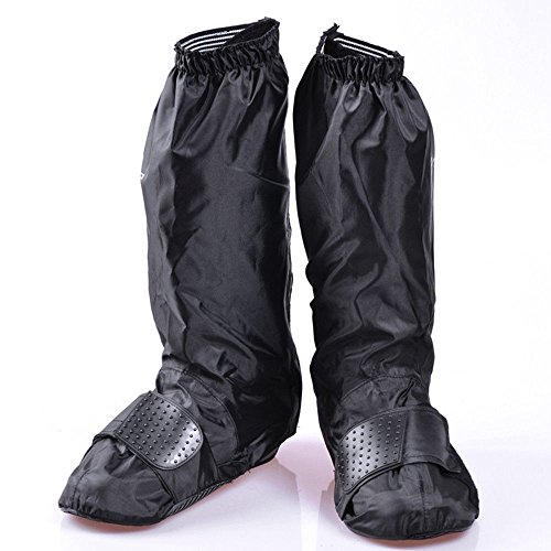 Waterproof Motorbike Shoe Boot Cover Motorcycle Rain Protect Reflective Stripe (M)