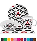 Mustache Print Dinner Set - 4 Pc (Personalized)