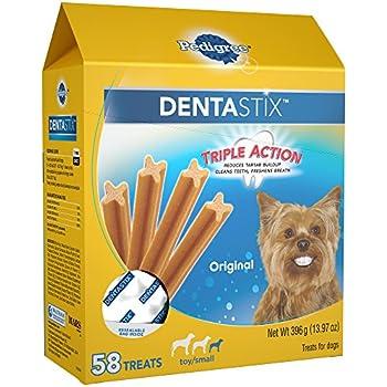 PEDIGREE DENTASTIX Toy/Small Dog Dental Treats Original Flavor Dental Bones, 13.97 oz. Pack (58 Treats)