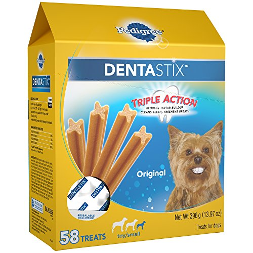 PEDIGREE DENTASTIX Toy/Small Treats for Dogs Original, 13.97 oz. Pack (58 -