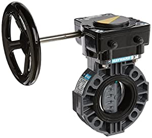 Hayward BY110300EG PVC BY-Series Gear Operated Butterfly Valve, 3-Inch