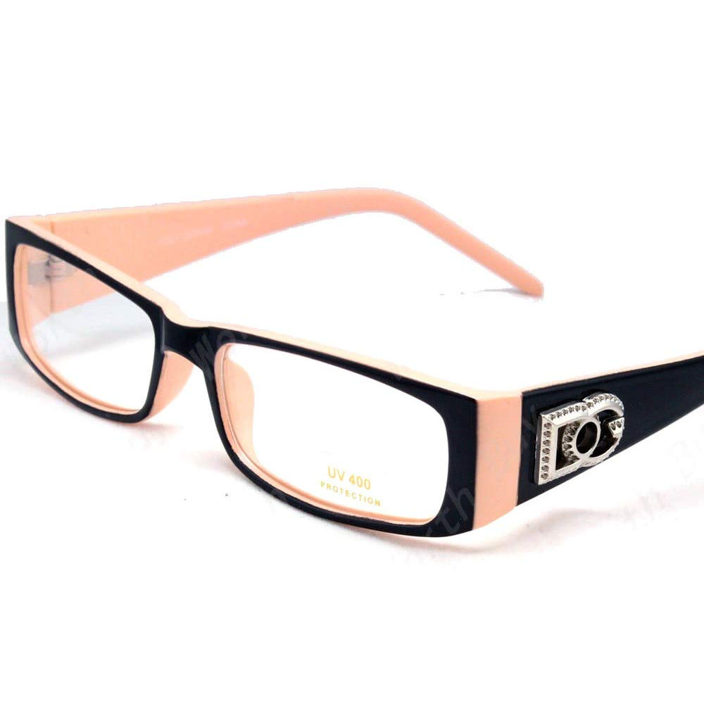 c22f526a0a61 Amazon.com: Mens Womens DG Clear Lens Rectangular Frame Fashion Eye Glasses  Hipster Designer: Clothing