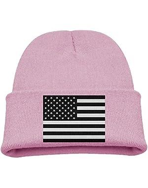American Flag Kid's Hats Winter Funny Soft Knit Beanie Cap Children Unisex