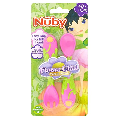 Nuby Flower Child Stainless Steel Cutlery Set - Pack of 6 by Nuby