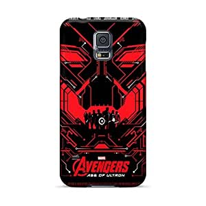 InesWeldon Samsung Galaxy S5 Shock Absorbent Hard Phone Cover Allow Personal Design Trendy Ant Man Series [PZL10564xFou]