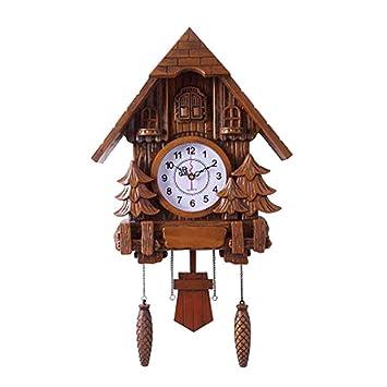 GBEUIB Reloj de Cuco de la Pared Reloj de péndulo Decoración para el hogar, Movimiento