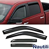 Laprive Auto 4pcs Side Window Deflectors Window Visors for 09-17 Ram 1500/2500/3500 Crew Cab Sun/Rain Guard Vent Visor (DO NOT FIT Quad CAB)