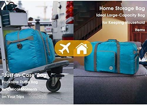 "Foldable Duffle Bag 24"" 28"" 32"" 36"" 60L 80L 100L 120L for Travel Gym Sports Lightweight Luggage Duffel By WANDF"
