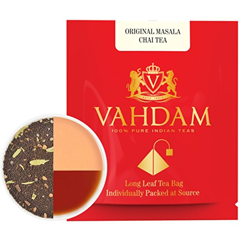 India's Original Masala Chai Tea Bags, 30 TEA BAGS, 100% NATURAL SPICES & NO ADDED FLAVOURING - Blended & Packed in India - Black Tea, Cardamom, Cinnamon, Black Pepper & Clove by VAHDAM (Image #2)